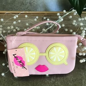 BETSEY JOHNSON DOUBLE POUCH WRISTLET
